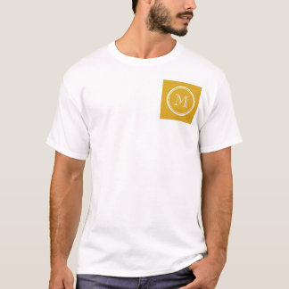 Your Initial Goldenrod High End Colored T-Shirt
