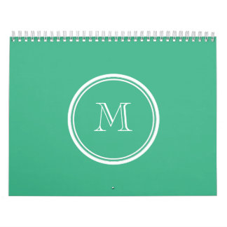 Your Initial Mint Green High End Colored Calendar