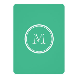 Your Initial Mint Green High End Colored Card
