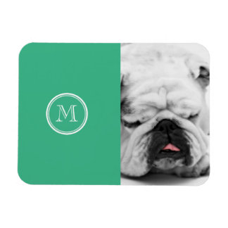 Your Initial Mint Green High End Colored Magnet