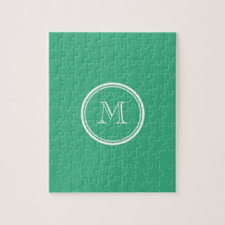 Your Initial Mint Green High End Colored Puzzles