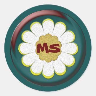 Your Initials Classic Round Sticker