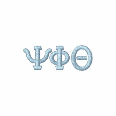 Your Initials- Greek Letter Alphabet Custom Design Embroidered Shirt