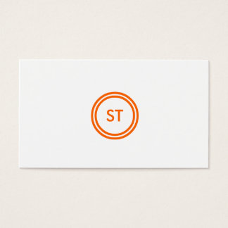 YOUR INITIALS LOGO in ORANGE Business Card