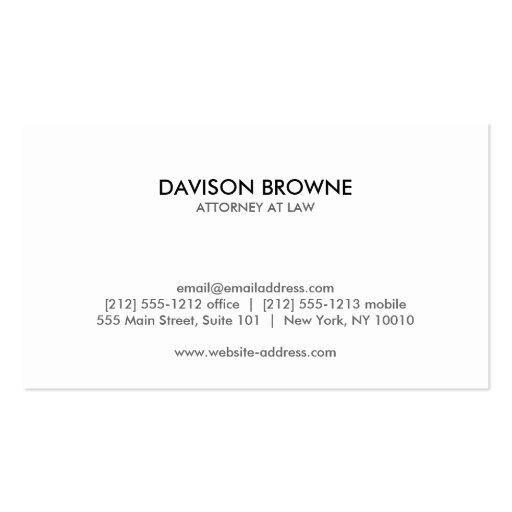 YOUR INITIALS LOGO/MONOGRAM No. 1 Business Card (back side)