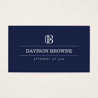 YOUR INITIALS LOGO/MONOGRAM on Blue Business Card