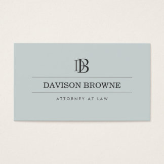 YOUR INITIALS LOGO/MONOGRAM on Slate Business Card
