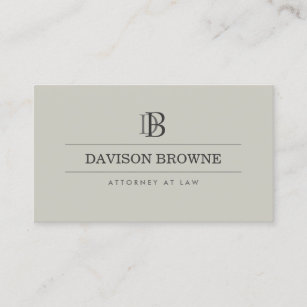 Legal business cards 1900 legal business card templates your initials logomonogram on taupe business card colourmoves