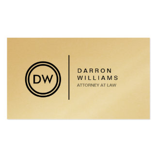 YOUR INITIALS LOGO on GOLD Business Card