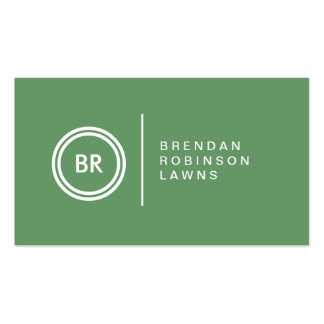 YOUR INITIALS LOGO on GREEN No. 2 Business Card