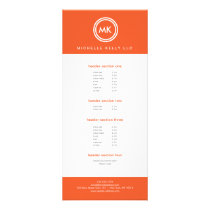 YOUR INITIALS LOGO on ORANGE No. 2 Rack Card