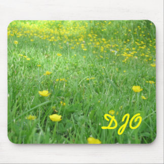 Your Initials on a Field of Buttercups Mouse Pad