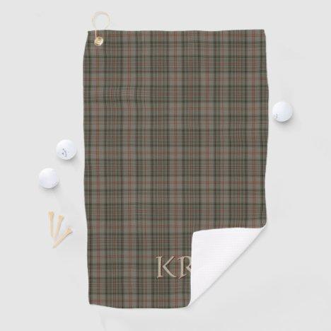Your initials on Balmoral Royal tartan Golf Towel