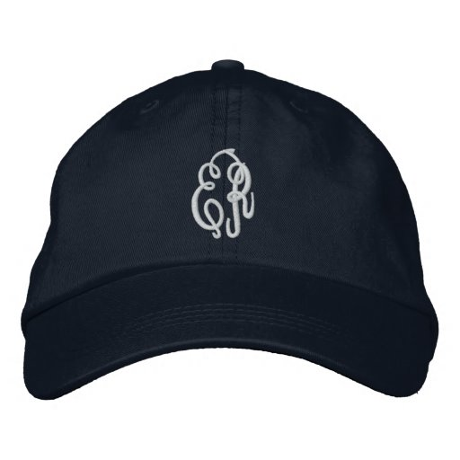 Your Initials-Personalize Monogram Embroidered Baseball Caps