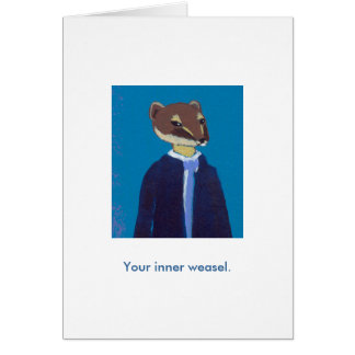 Your inner weasel daily art fun unique painting cards