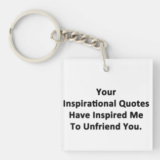 Your Inspirational Quotes Double-Sided Square Acrylic Keychain