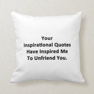 Your Inspirational Quotes Throw Pillow