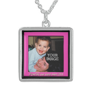 Your Instagram Photo Your Caption! Sterling Silver Necklace