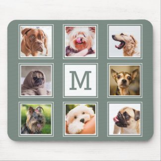 YOUR INSTAGRAM PHOTOS / dogs custom monogram pad Mouse Pad