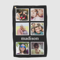 YOUR Instagram photos, name & color golf towel