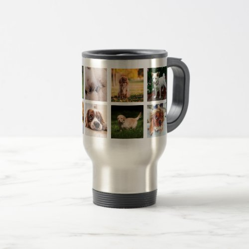 Your Instagram Puppies Photos 15 oz Travel Mug