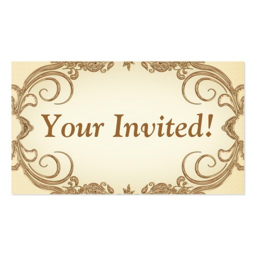 Your Invited Business Card   Zazzle