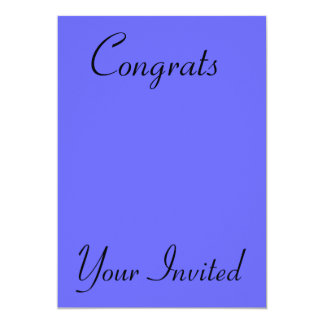 Your Invited, Congrats Card