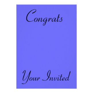 Your Invited Congrats Custom Announcements