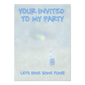 Your Invited to My Party Invitation Card