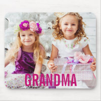 Your Kids Photo Grandma Mousepad