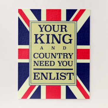 Your King and Country need you Enlist. Jigsaw Puzzle