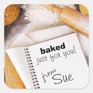 Your Kitchen Creations (custom baking sticker) Square Sticker
