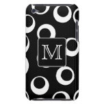 Your Letter. Black and White Monogram. Fun Pattern iPod Case-Mate Cases