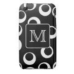 Your Letter. Black and White Monogram. Fun Pattern Case-Mate iPhone 3 Cases