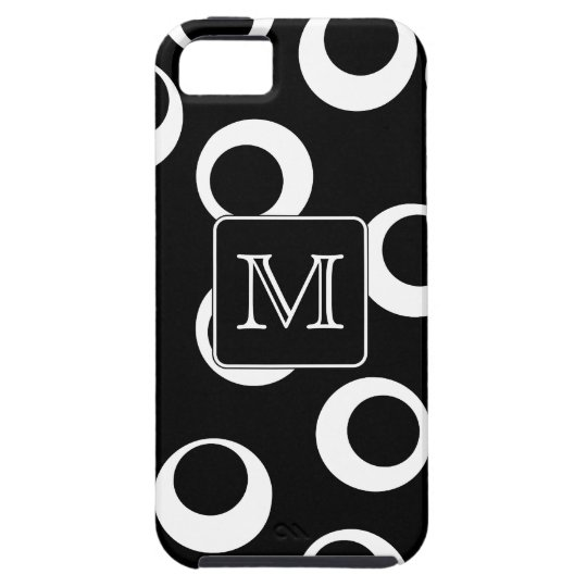 Your Letter. Black and White Monogram. Fun Pattern iPhone SE/5/5s Case