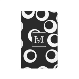 Your Letter. Black and White Monogram. Fun Pattern Journal
