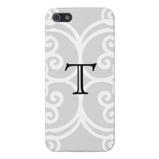 Your Letter. Black / White Swirl Monogram. Custom iPhone SE/5/5s Cover