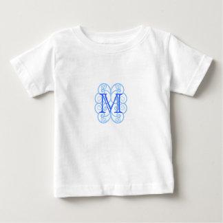 Your Letter. Custom Blue Swirl Monogram. Tees