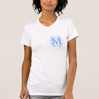 Your Letter. Custom Blue Swirl Monogram. Tshirts
