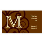 Your Letter. Custom Brown Monogram. Old Fashioned. Double-Sided Standard Business Cards (Pack Of 100)