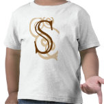 Your Letter. Custom Brown Monogram. Old Fashioned. T Shirt