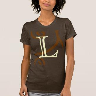 Your Letter. Custom Brown Monogram. Old Fashioned. Tshirt