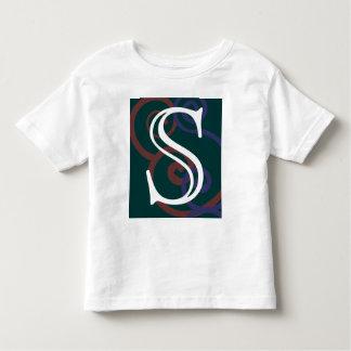 Your Letter. Custom Dark Multi-Color Monogram. Toddler T-shirt