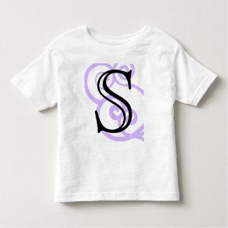 Your Letter. Custom. Lilac Purple Swirl Monogram. Tee Shirt