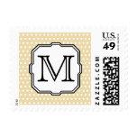 Your Letter. Custom Monogram. Beige Polka Dot. Stamps