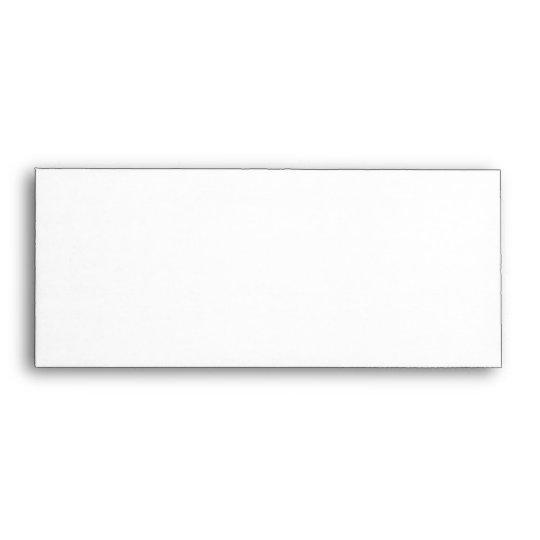 Your Letter. Custom Monogram. Black and White Envelope