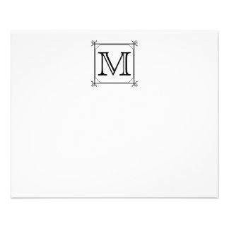 Your Letter. Custom Monogram. Black and White Full Color Flyer