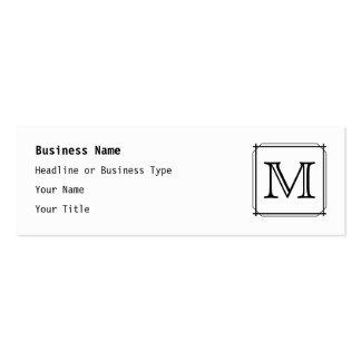 Your Letter. Custom Monogram. Black and White Mini Business Card