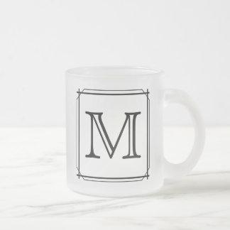 Your Letter. Custom Monogram. Black and White Mug
