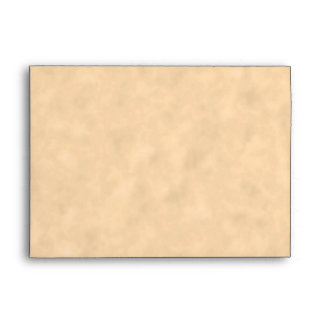 Your Letter. Custom Monogram. Black & Parchment Envelope
